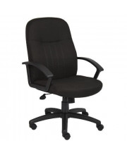 Boss Office Products Mid Back Fabric Managers Chair In Black