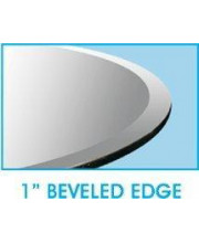 18 X 54 Rectangle Glass Table Top 1/2 Thick 1 Beveled Edge