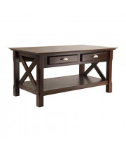 Winsome Wood Xola Occasional Table Cappuccino Finish