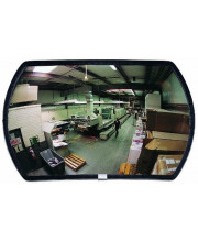 """See All RRO1524 Round Rectangular Glass Outdoor Convex Security Mirror, 24"""" Length x 15"""" Width (Pack of 1)"""