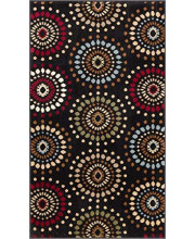 """Well Woven Barclay Orchid Fields Black Modern Area Rug 2'3"""" X 3'11"""""""