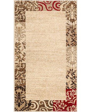 """Well Woven Barclay Vane Willow Damask Beige Modern Area Rug 2'3"""" X 3'11"""""""