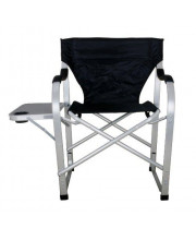 Stylish Camping SL1214 Black Heavy Duty Folding Camping Director Chair with Side Table