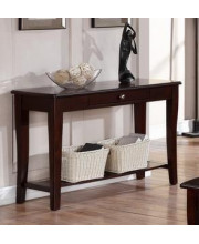 Contemporary Rich Gloss Wood Rectangular Console Table W/Drawer By Poundex