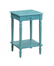 Convenience Concepts French Country End Table Blue