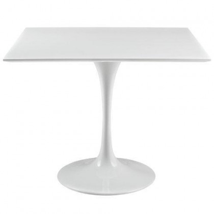 Modway Lippa 36 Square Wood Top Dining Table In White