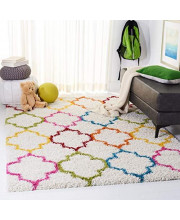 Safavieh Kids Shag Collection SGK569A Ivory and Multi Area Rug (3' x 5')