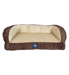 Serta Ortho Quilted Couch Pet Bed, La...