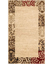 """Well Woven Verdant Vines Beige Modern Damask Border Rug 2x4 (2'3"""" x 3'11"""") Casual Oriental Easy Clean Stain Fade Resistant Shed Free Contemporary Floral Formal Gradient Soft Living Dining Room Rug"""