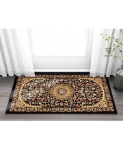 """Well Woven Sultan Medallion Black Oriental 2x4 (2'3"""" x 3'11"""") Area Rug Persian Floral Formal Traditional Area Rug Easy Clean Stain Fade Resistant Modern Classic Contemporary Thick Soft Plush Doormat"""