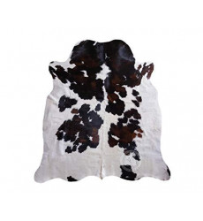 Tricolor Cowhide Rug Approx 6ft x 8 f...