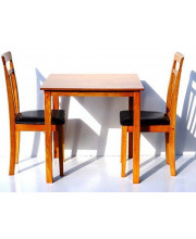 Contemporary Solid Wood Dining Room Kitchen Square Table Maple Finish