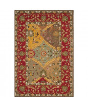 Safavieh Easy to Care Collection EZC761A Handmade Multi and Red Area Rug (4' x 6')