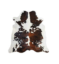 Tricolor Cowhide Rug Approx 5ft x 7ft...
