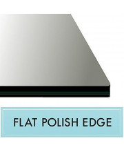 16' X 20' Rectangle Clear Tempered Glass Table Top 3/8' Thick - Flat Polish Edge