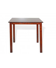 Contemporary Modern Square Dinette Dining Kitchen Table In Dark Walnut Finish