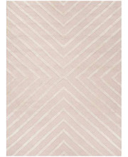 Safavieh Kids Collection SFK920P Handmade Pink and Ivory X-Pattern Wool Area Rug (3' x 5')