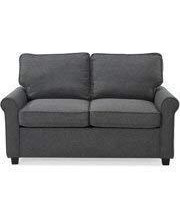 57 Loveseat Sleeper With Memory Foam Mattress, Grey, Pocketed Coil Seating, Bundle With Ebook For Home Furniture