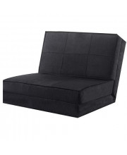 """Black 83"""" L Convertible Fold Down Lounger Chair Couch Dorm Sleeper Guest Flip Out Game Bed with Ebook"""