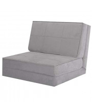 """Gray 83"""" L Convertible Fold Down Lounger Chair Couch Dorm Sleeper Guest Flip Out Game Bed with Ebook"""