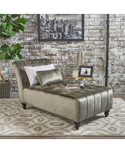 Ilunar Home Chaise Lounging Chair Luxury Soft Tufted Velvet Upholstery