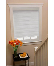 Cordless Celestial Sheer Double Layered Shade 32X72 - White