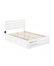 Oxford Full Bed With Footboard And Usb Turbo Charger With 2 Drawers In White