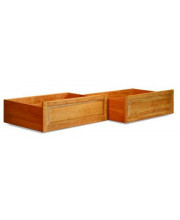 2 Raised Panel Bed Drawers Twin/Full Natural Maple