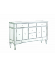 5-Drawer Accent Cabinet Silver
