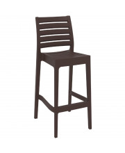 Ares Resin Barstool Brown