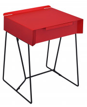 Sina Full Metal Side Table Contemporary Style - Red