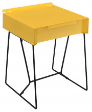 Sina Full Metal Side Table Contemporary Style - Yellow