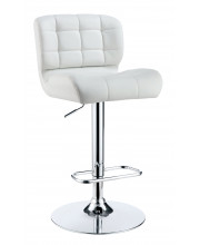 Becks Tufted Leatherette Bar Stool Contemporary Style - White