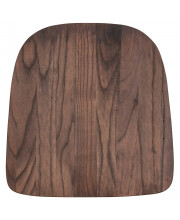 Rustic Walnut Wood Seat for Colorful Metal Chairs