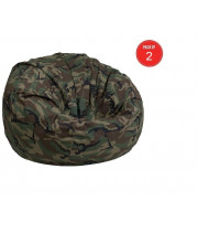 Flash Furniture Oversized Camouflage Kids Bean Bag Chair (Pack of 2)