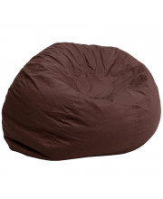 Oversized Solid Brown Bean Bag Chair - DG-BEAN-LARGE-SOLID-BRN-GG