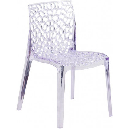 Vision Series Transparent Stacking Side Chair - FH-161-APC-GG