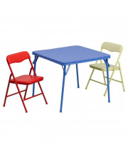 Kids Colorful 3 Piece Folding Table and Chair Set - JB-10-CARD-GG