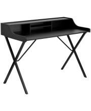 Black Computer Desk with Top Shelf - NAN-2124-GG