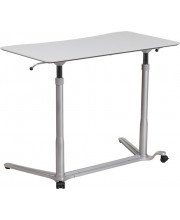 Sit-Down, Stand-Up Light Gray Computer Desk with 37.375W Top (Adjustable Range 29 - 40.75) - NAN-IP-6-1-GG