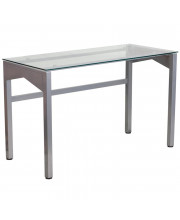 Contemporary Desk with Clear Tempered Glass Top - NAN-YLCD1219-GG