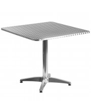 31.5'' Square Aluminum Indoor-Outdoor Table with Base - TLH-053-3-GG