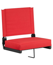 Grandstand Comfort Seats By Flash With Ultra-Padded Seat In Red - Xu-Sta-Red-Gg