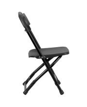 Kids Black Plastic Folding Chair - Y-KID-BK-GG