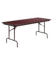Flash Furniture 30'' x 72'' Rectangular Mahogany Melamine Laminate Folding Banquet Table (pack of 2)
