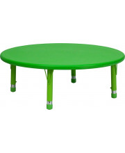 45'' Round Green Plastic Height Adjustable Activity Table - YU-YCX-005-2-ROUND-TBL-GREEN-GG