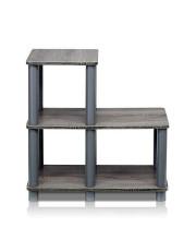 Furinno 14032Gy/Gy Turn-N-Tube Accent Decorative Shelf, French Oak/Grey