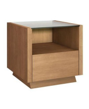 """24"""" Sleek Contemporary End Table in a Light Cherry Finish"""
