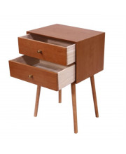 Wooden Nightstand 2 Drawer Side Table For Living Room And Bedroom