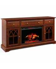 60'' Gothic Arch Tv Stand With Electric Fireplace